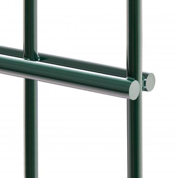 6/5/6 Doppelstabmatte 1430 mm feuerverzinkt und RAL 6005 (Moosgrün) nach DIN EN 1461