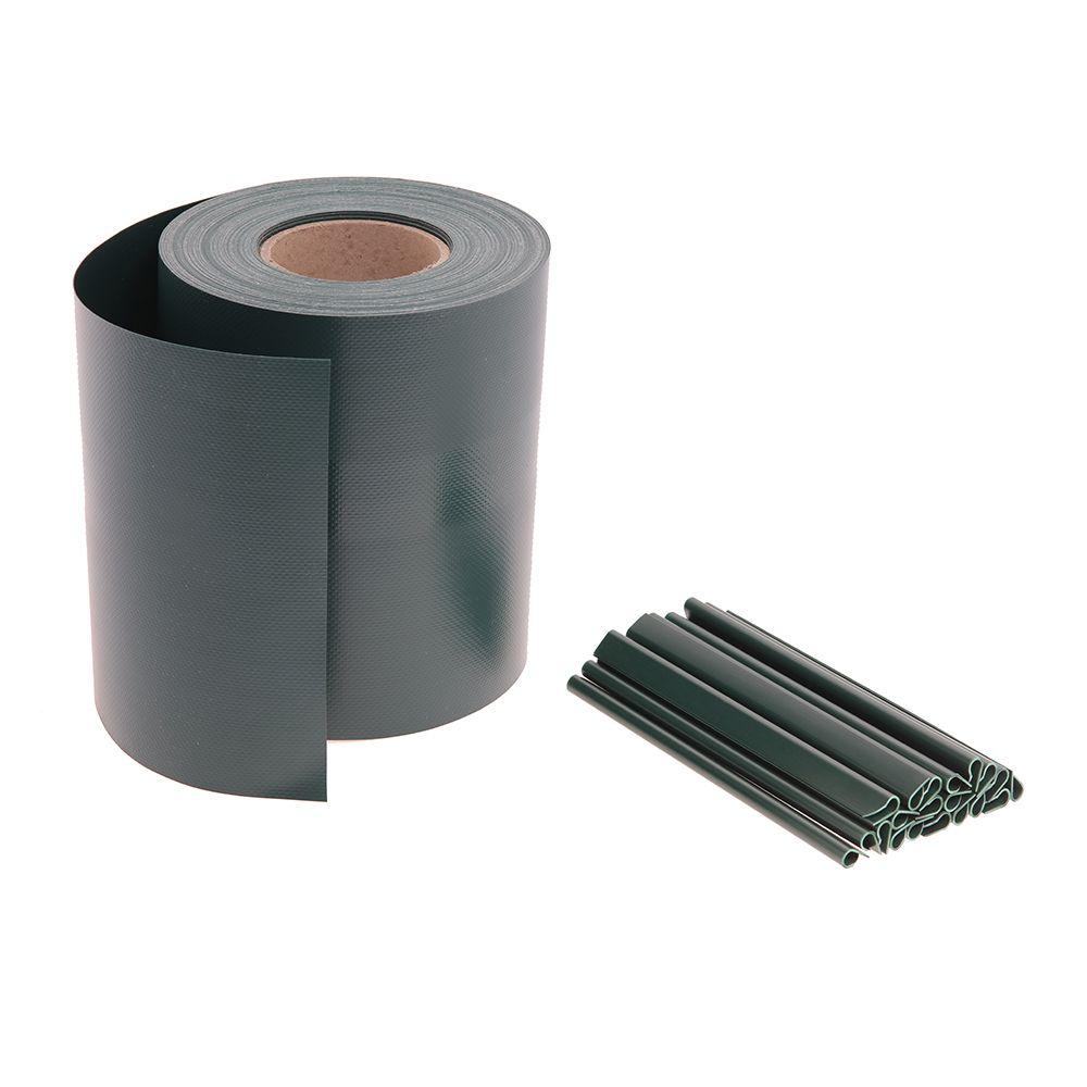 35m Sichtschutz Premium 680g/m2 Moosgrün RAL 6005 auf Rolle