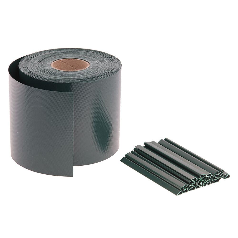 65m Sichtschutz Premium 680g/m2 Moosgrün RAL 6005 auf Rolle