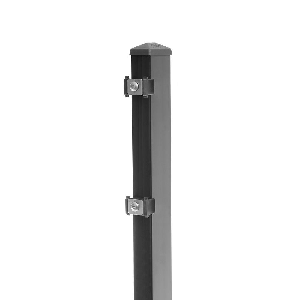 Pfosten Typ 6 Höhe 0,63 m mit Klemmteile verzinkt und anthrazit RAL 7016