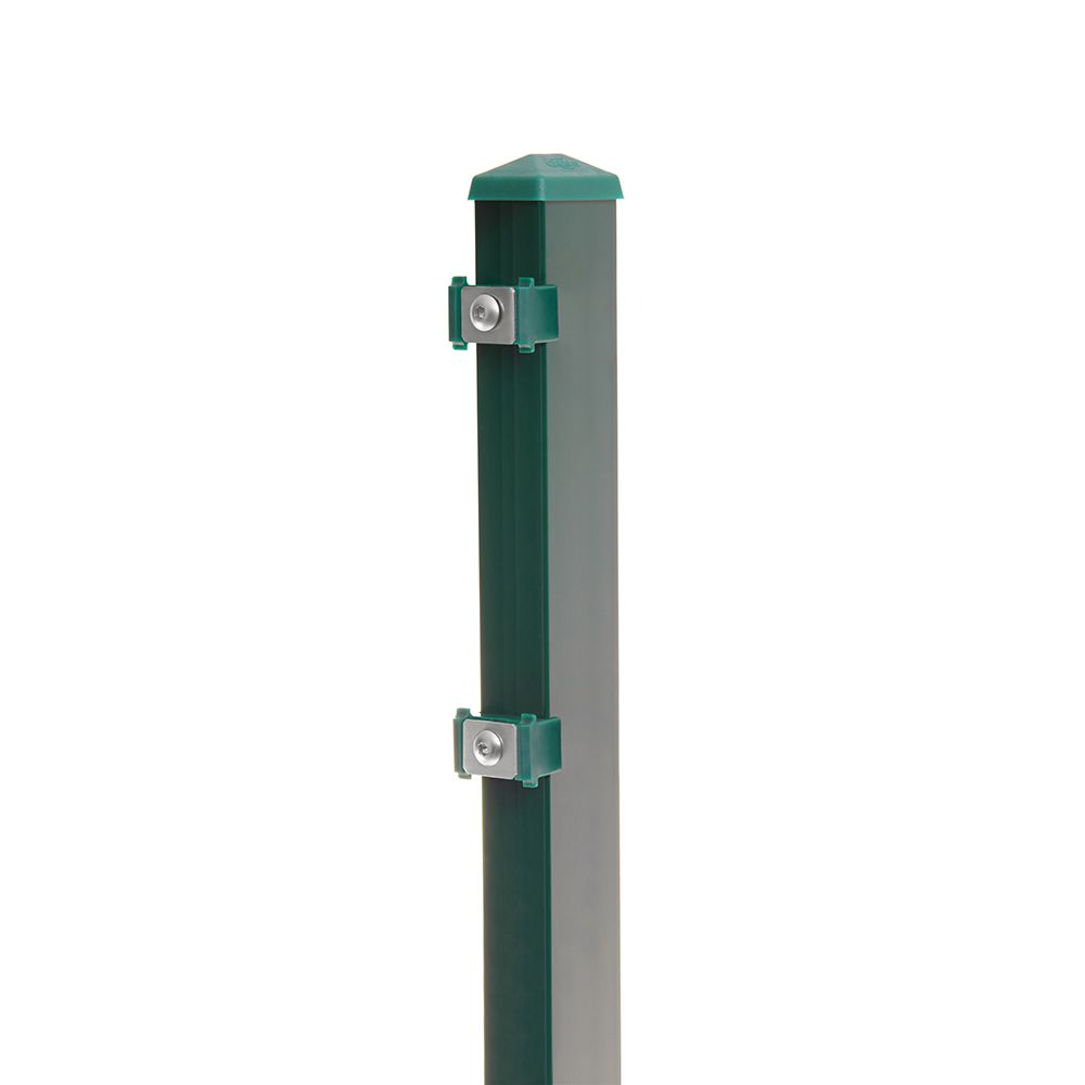 Pfosten Typ 6 Höhe 0,83 m mit Klemmteile verzinkt und moosgrün RAL 6005