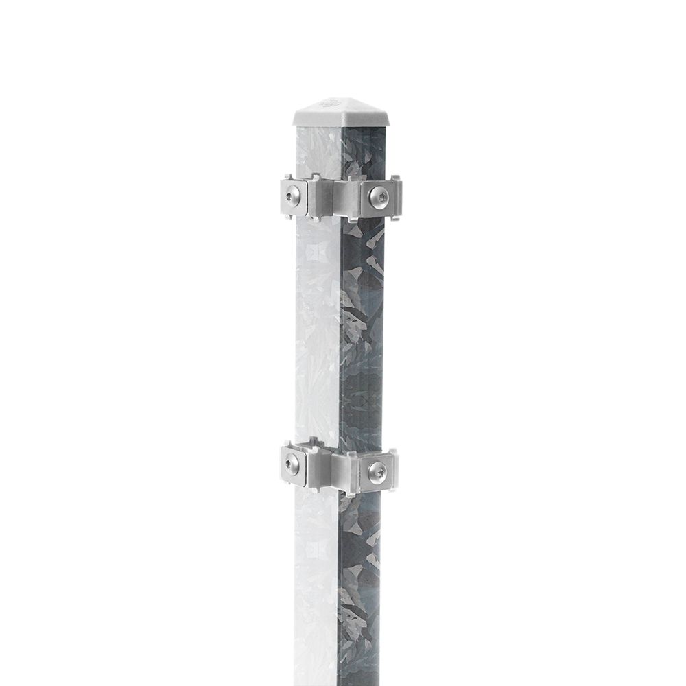 Eck-Pfosten-Links Typ 6 Höhe 1,23 m mit Edelstahl-Clips nur feuerverzinkt