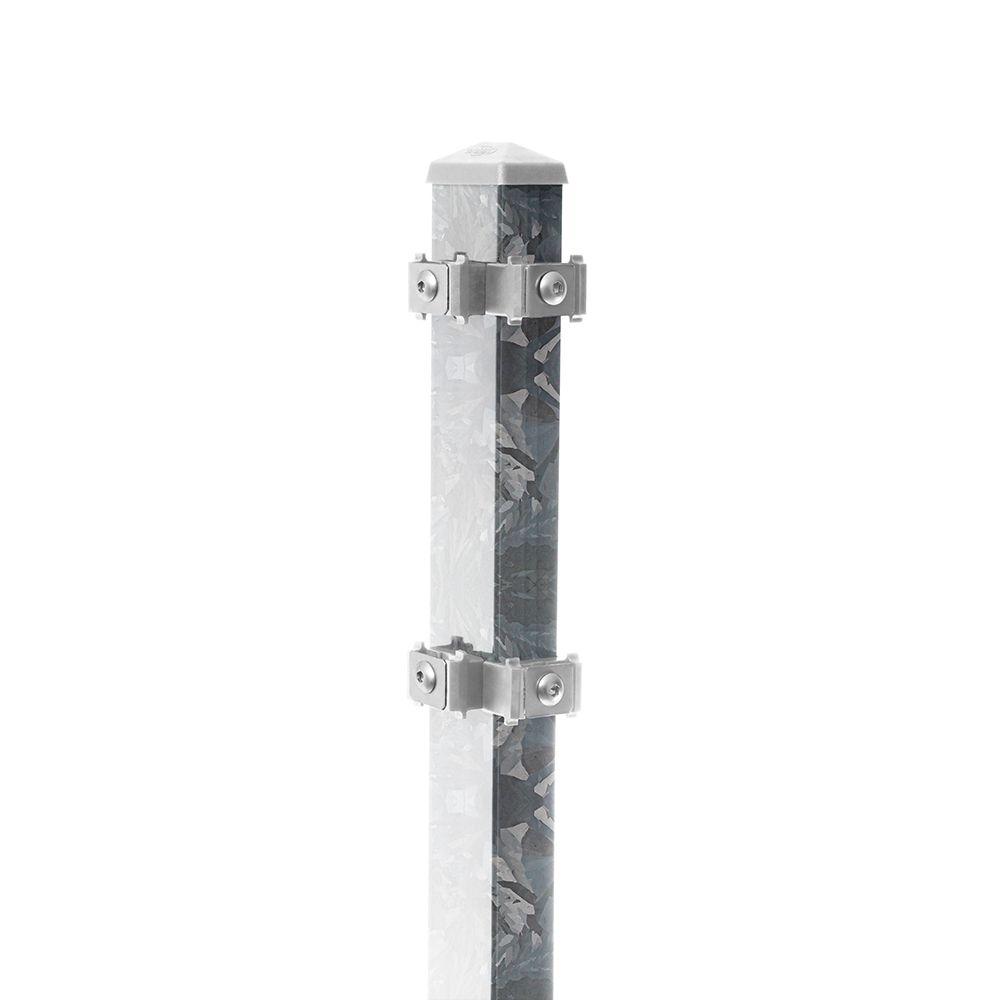Produktbild Eck-Pfosten-Links Typ 6 Höhe 1,83 m mit Edelstahl-Clips nur feuerverzinkt