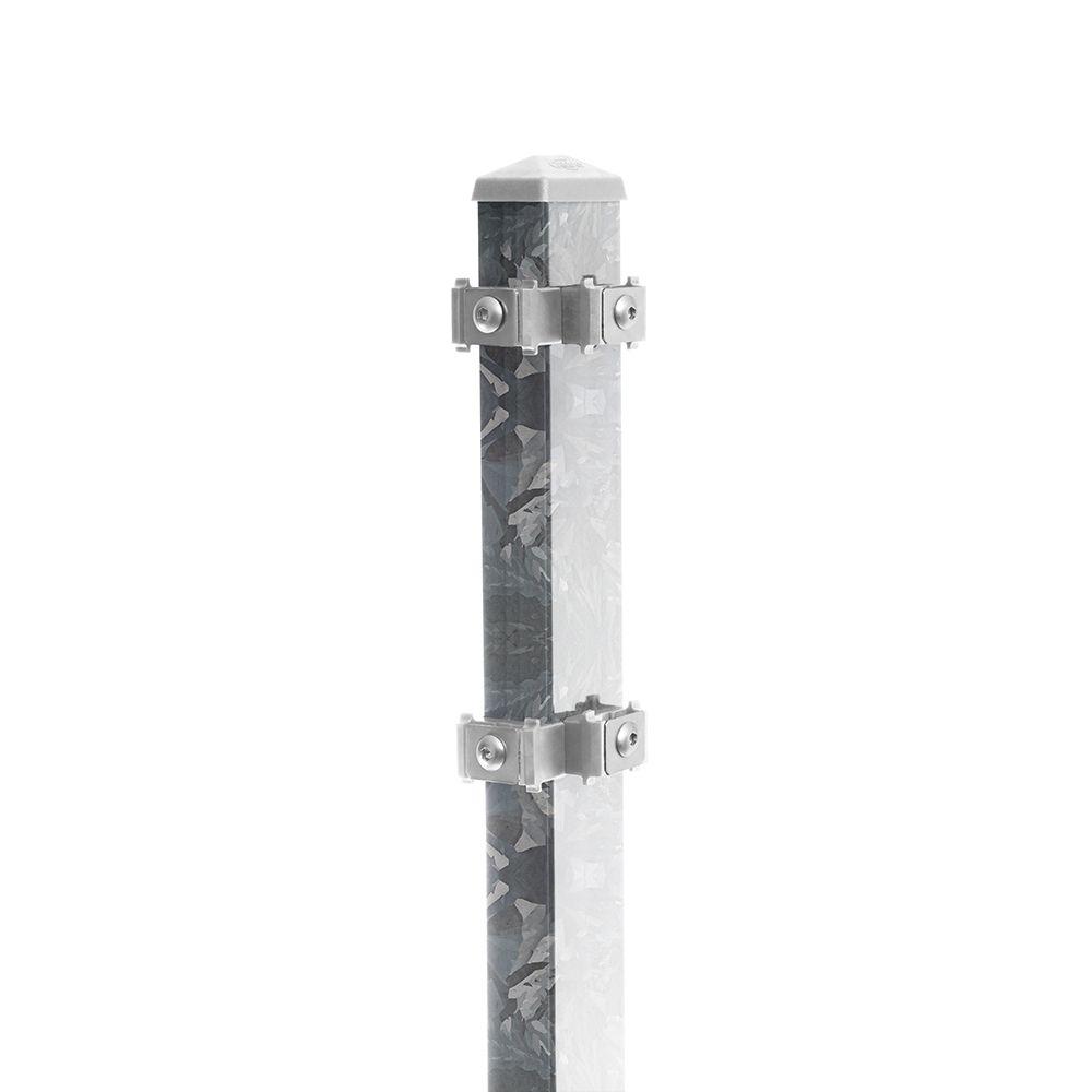 Eck-Pfosten-Rechts Typ 6 Höhe 2,03 m mit Edelstahl-Clips nur feuerverzinkt