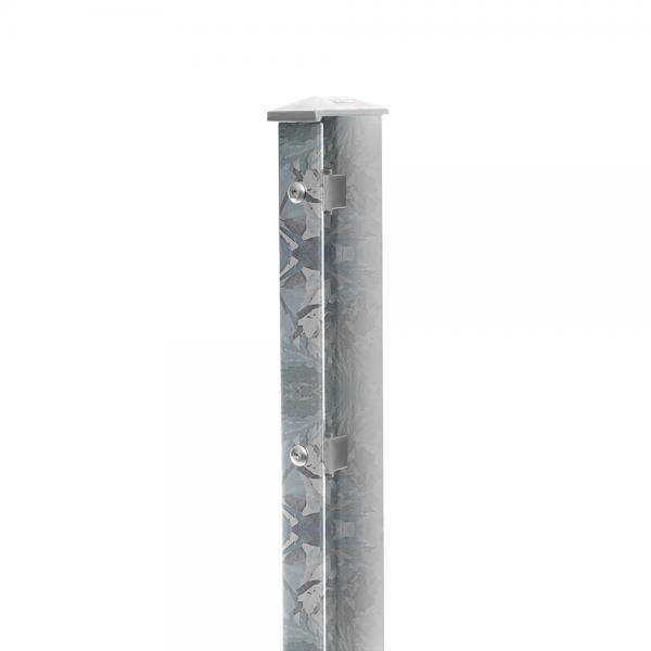 Pfosten Typ 1 mit Abdeckleiste nur feuerverzinkt für Zaunfelder 1230 mm
