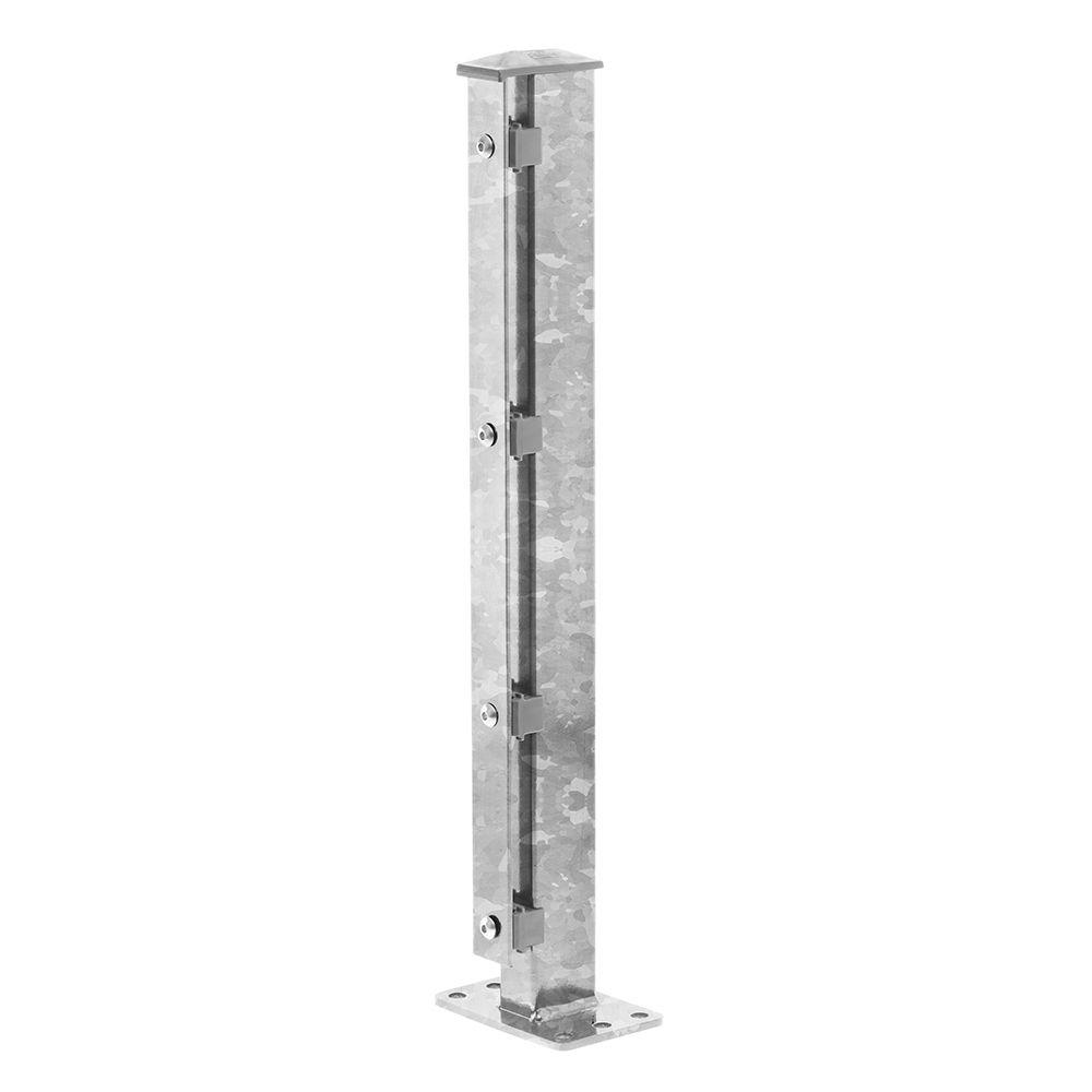 Produktbild Pfosten Typ 1 Höhe 1,03 m mit Abdeckleiste und Dübelplatte nur feuerverzinkt