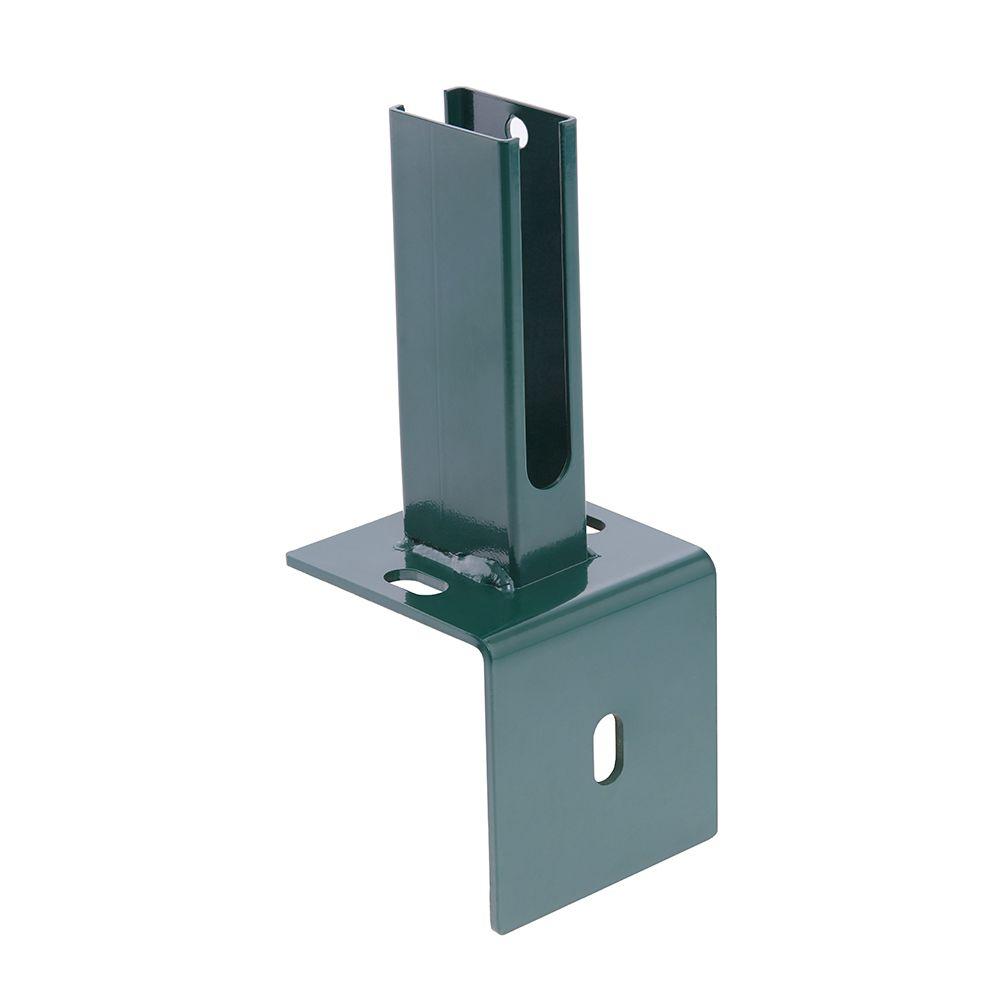 Produktbild Pfosten mit Winkelplatte RAL 6005 Moosgrün