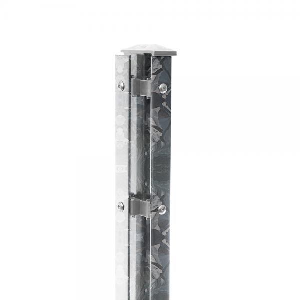 Eck-Pfosten Links Typ 1 Höhe 1,43 m mit Abdeckleiste nur feuerverzinkt - zum einbetonieren