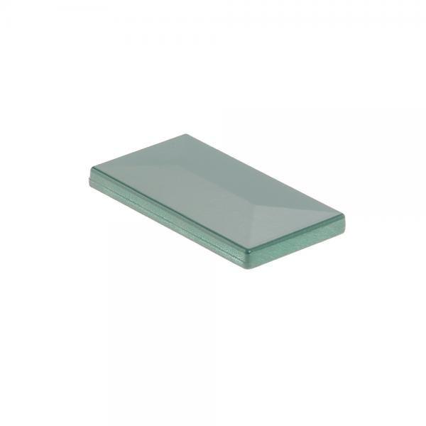 Pfostenkappe 60x40 Aluminium moosgrün RAL 6005