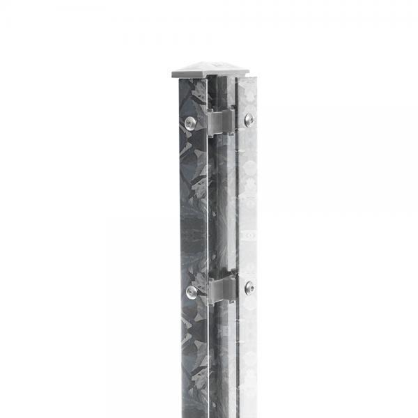 Eck-Pfosten Rechts Typ 1 Höhe 1,43 m mit Abdeckleiste nur feuerverzinkt - zum einbetonieren
