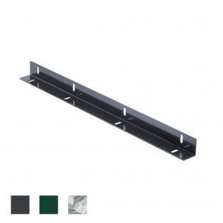Zaunanschlussleiste anthrazit RAL 7016 für Zaunfelder 0830 mm