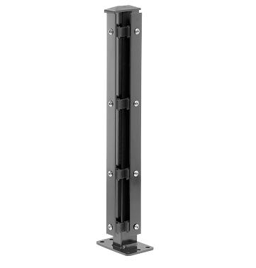 Eck-Pfosten Rechts Typ 1 Höhe 1,43 m mit Abdeckleiste verzinkt und anthrazit RAL 7016 - zum Aufdübeln