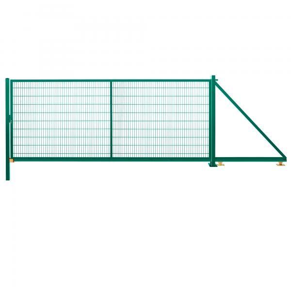 Schiebetor freitragend 2,03 m 5,00 m breit RAL 6005 moosgrün